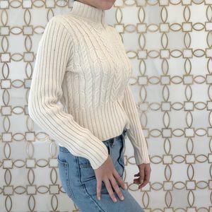 Vintage Zip Crop Sweater